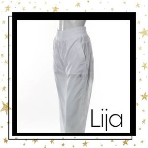 NEW Lija White Relaxed Fit Warm Up Pants Sz. S
